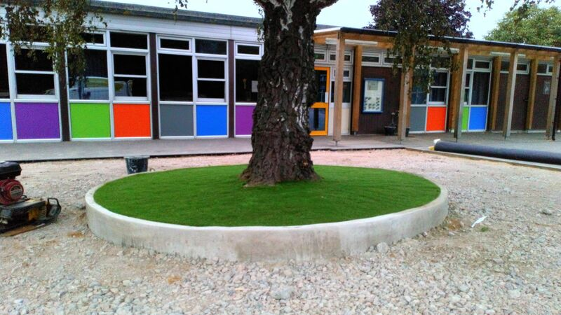 School playground landscaping project